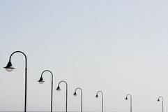 Lanterns in a row Royalty Free Stock Photos