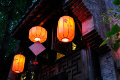 Lanterns on second floor Royalty Free Stock Photography