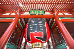Lanterns  at Sensoji Asakusa TEMPLE JAPAN. MAY 11, 2014: Kaminarimon is the first of two large entrance gates leading to Sensoji Temple.It is the symbol of Royalty Free Stock Photos