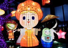 Lanterns in the shape of Dutch cartoon Royalty Free Stock Photography