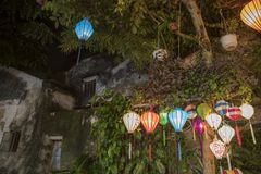 Lanterns in a shop in old town Hoi An. royalty free stock photography
