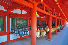 Lanterns in shrine Royalty Free Stock Images