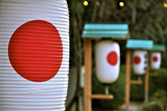 Lanterns in a shrine Royalty Free Stock Photography