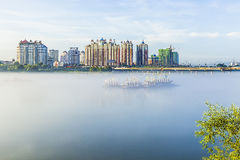 Lanterns on the Songhua River Royalty Free Stock Photos