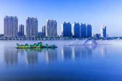 Lanterns on the Songhua River in Jilin. Eastphoto, tukuchina, Lanterns on the Songhua River in Jilin, City, scenery royalty free stock photography