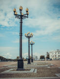 The lanterns on square Royalty Free Stock Photo