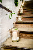 Lanterns on a Staircase Stock Images