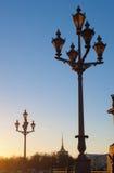 Lanterns at sunset Royalty Free Stock Images