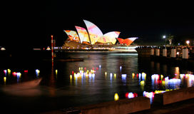 Lanterns and Sydney Opera House Royalty Free Stock Photo