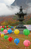 Lanterns at temple Stock Photo