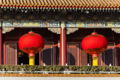 Lanterns on Tiananmen tower Stock Images