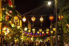Lanterns, tourists Stock Images