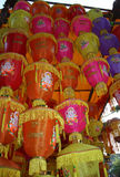 Lanterns Tower. A tower of traditional lanterns for sale on festive occasion of Diwali in India Royalty Free Stock Photos