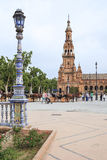 Lanterns and towers of Spain Stock Photography