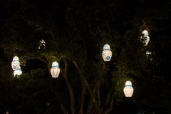 Lanterns on a tree royalty free stock image
