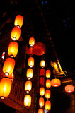 Lanterns under eaves Royalty Free Stock Photo