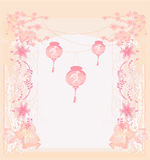 Chinese New Year card. Lanterns will bring good luck stock illustration