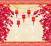 Lanterns will bring good luck. And peace to prayer during Mid-Autumn Festival for Chinese New Year Stock Photo