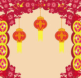 Lanterns will bring good luck. And peace to prayer during Mid-Autumn Festival for Chinese New Year Royalty Free Stock Image