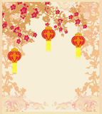 Lanterns will bring good luck and peace. To prayer during Mid-Autumn Festival for Chinese New Year Stock Image
