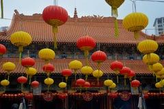Lanterns in Wong Tai Sin Temple Stock Photography