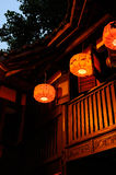 Lanterns of wood building Stock Images