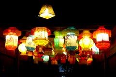 Lanterns from Wuzhen ancient town. Colourful lanterns from Wu zhen ancient town West Gate Scenic Spot nightscape Tongxiang City, Jiaxing City, Zhejiang Province Royalty Free Stock Photo