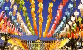 Lanterns in Yee-peng festiva Stock Photography
