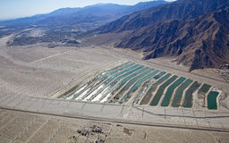 Lantgård för Palm Spring områdesWind Arkivbild