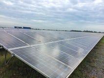 Lantgård för sol- cell Royaltyfri Bild