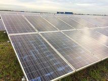 Lantgård för sol- cell Arkivfoto