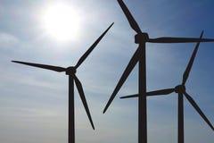 Lantgård för vindturbiner Royaltyfria Bilder