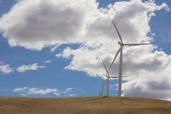 Lantgård för vindturbiner i Goldendale Washington Arkivfoton