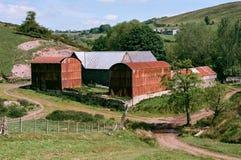 Lantgård i den Shropshire bygden i England Arkivbild