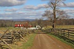 Lantgård i Gettysburg royaltyfri foto