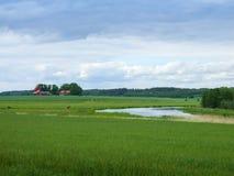 Lantgård i Sverige royaltyfri fotografi