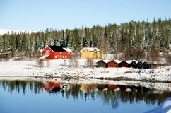 Lantgård i vinter Royaltyfri Bild