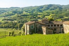 Lantgård nära Parma (Italien) royaltyfri foto
