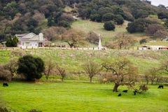 Lantgård på kullarna av södra San Francisco Bay Royaltyfri Fotografi