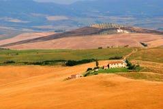 lantgård tuscany Royaltyfri Fotografi