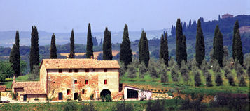 lantgård tuscany royaltyfri bild
