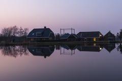 Lantgårdar i Woeedense Verlaat Fotografering för Bildbyråer