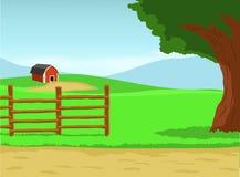Lantgårdbakgrund Arkivbild