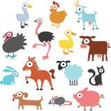 Lantgårddjur royaltyfri illustrationer