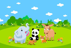 Lantgårddjur med bakgrund Arkivbild