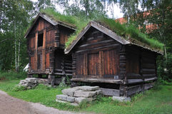 lantgårdhus norway norska gammala oslo Royaltyfria Foton