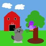 lantgårdillustration vektor illustrationer