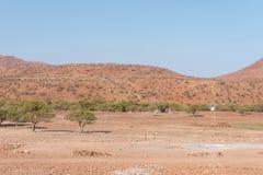 Lantgårdlandskap bredvid C40en-road Arkivbilder
