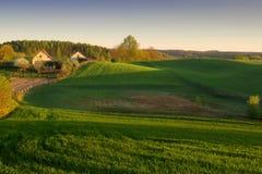 lantgårdmorgonsun Fotografering för Bildbyråer