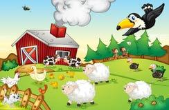 Lantgårdplats stock illustrationer